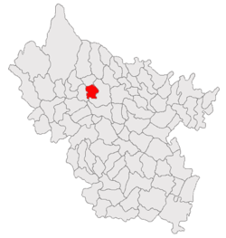 Location of Căneşti