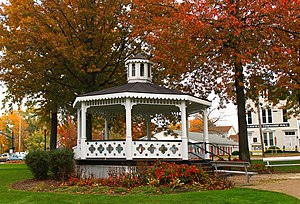 Canfield, Ohio - Gazebo in Canfield's central square