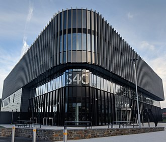 S4C - S4C headquarters in Carmarthen on the campus of the University of Wales Trinity Saint Davids