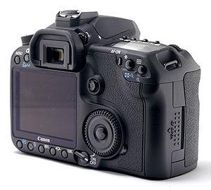 Canon EOS 50D - Image: Canon EOS 50D Back