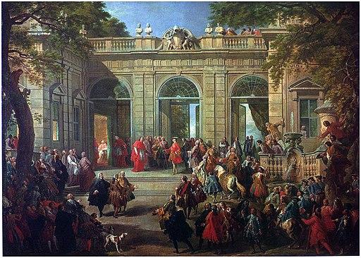 Carlo di Borbone visita il papa Benedetto XIV nella coffee-house del Quirinale, Pannini 001