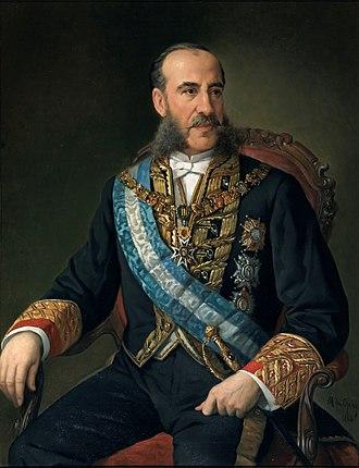 Carlos Marfori, 1st Marquess of Loja - Portrait by Manuel Ojeda, 1884