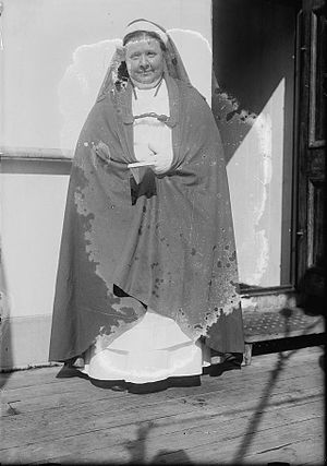 "Caroline Gardner Bartlett - Caroline Gardner Bartlett in her ""Sister Beatrice"" garb, c.1915"