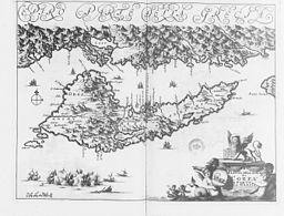 Karte von Korfu, 1688
