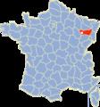 Carte France Département 88 Vosges Contrexeville localisation.png