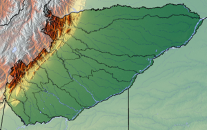 Casanare Department - Image: Casanare Topographic 2