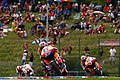 Casey Stoner, Andrea Dovizioso, unknown Yamaha rider and Marco Simoncelli 2011 Brno.jpg