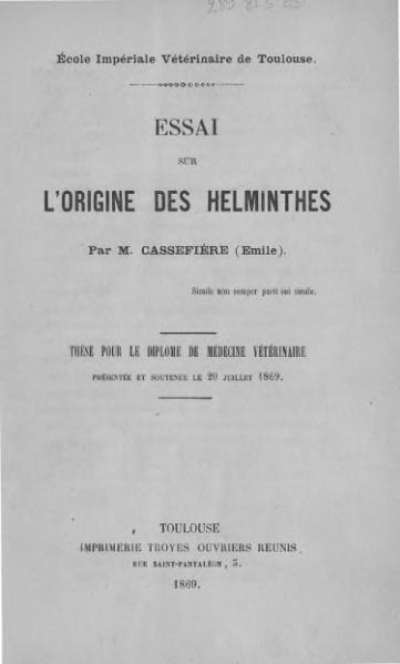 File:Cassefière - Essai sur l'origine des Helminthes.djvu