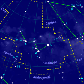 Image illustrative de l'article Cassiopée (constellation)