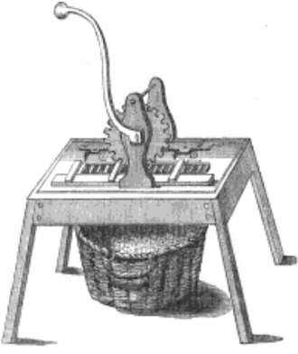 Jean Castaing - A nineteenth century illustration of Castaing's machine