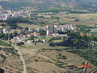 Bragança, Portugal - A perspective of the settlements around the base of the Castle of Bragança