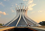 The Cathedral of Brasilia, an example of Modern architecture.