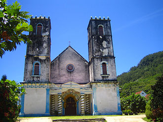 Congregation of the Sacred Hearts of Jesus and Mary - St. Michael's Cathedral in Rikitea before renovation in 2006