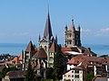Cathédrale de Lausanne depuis le Champ de l'Air.JPG