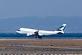 Cathay Pacific Airways ,CX562 ,Boeing 747-412F ,B-HKT ,Arrived from Hong Kong ,Kansai Airport (16482076669).jpg