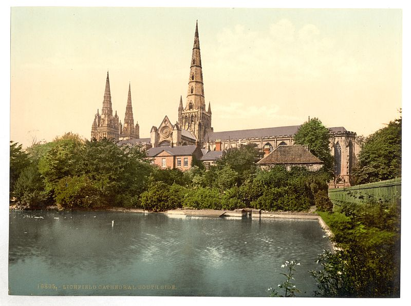 File:Cathedral, South Side, Lichfield, England-LCCN2002696906.jpg