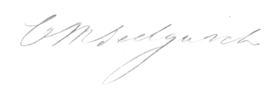 reproduction of Catherine Sedgwick's signature