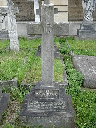 Cecil Beck - Funerary monument, Brompton Cemetery, London