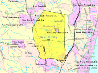 Howell Township, New Jersey - Image: Census Bureau map of Howell Township, New Jersey