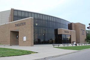 Centerville High School - Exterior of Centerville High School Performing Arts Center, taken May 9, 2014
