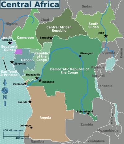 Ubangi River Map Africa Africa centrale - Wiki...