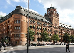 Government of Sweden - The Central Post Office Building, houses the Ministry of Enterprise.