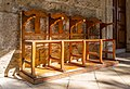 Chairs in front of Church of Virgin Mary of Chrysopolitissa, Larnaca, Cyprus 04.jpg