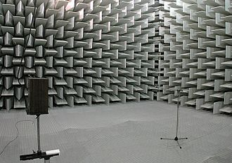 Loudspeaker measurement - Loudspeaker measurement in an anechoic chamber with acoustically transparent floor-grid