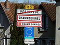 Champcevinel panneau jumelage-occitan.JPG