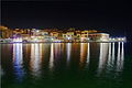 Chania old harbour by night.jpg