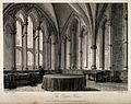 Chapter House, Oxford; interior. Line engraving by J. Le Keu Wellcome V0014220.jpg