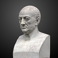 Bust of Charles Bonnet at Jardin Botanique