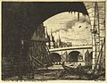 Charles Meryon, Archway, Pont Nôtre-Dame, 1853.jpg