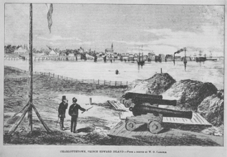 Francis Kelly (Canadian politician) - Sketch of Charlottetown, capital of Prince Edward Island, in the late 19th century.