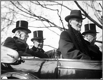 Philander C. Knox - Woodrow Wilson, Warren G. Harding, Joseph Gurney Cannon, and Knox on March 4, 1921
