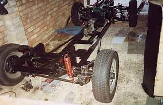 Locust (car) - The Locust chassis.