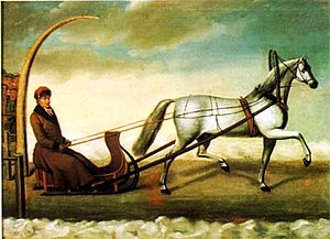 Orlov Trotter - Count Alexey Orlov driving Bars the First, by N. Sverhckov