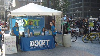 WXRT - WXRT tent at an event in Daley Plaza
