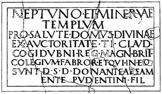 History of Sussex - Chichester inscription, with Cogidubnus name
