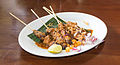 Chicken sate with peanut sauce, 2014-05-07.jpg
