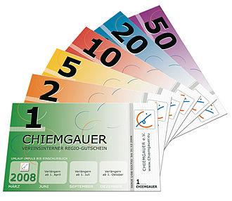 Chiemgauer - Image: Chiemgauer Fächer