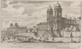 Chiesa della Santiss. Trinità de Monti de PP. Minimi Francesi sul Monte Pincio by Giovanni Battista Falda (1667-1669).png