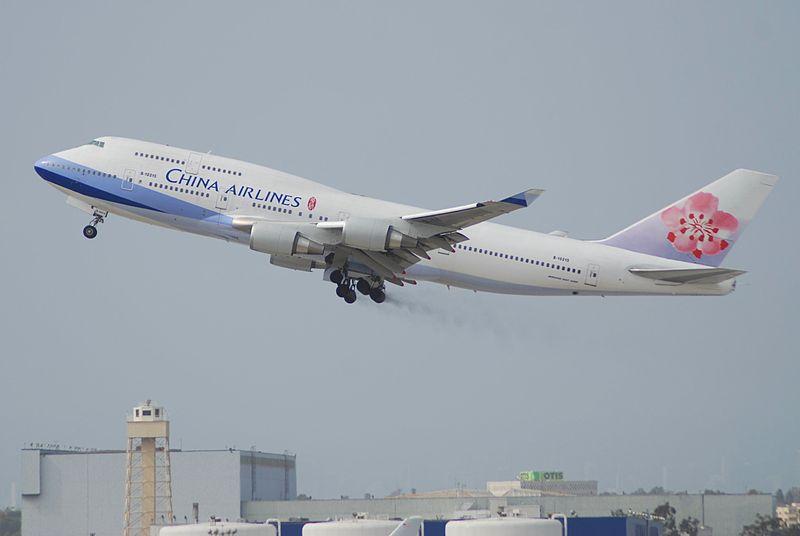 China Airlines B747-400, B-18215