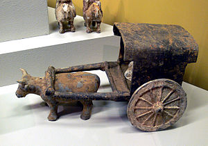 Ox in Chinese mythology - Chinese oxcart, 5th-6th centuries