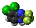Chlorflurazole molecule spacefill.png