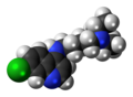 Chloroquine molecule spacefill.png