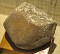 Chopper - Lower Palaeolithic Culture - Narmada Valley - Human Evolution Gallery - Indian Museum - Kolkata 2014-04-04 4508.JPG