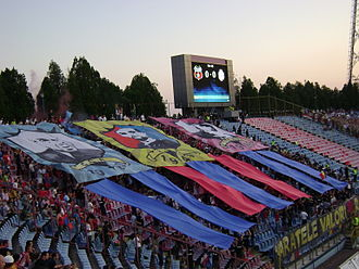 History of FC Steaua București - Steaua fans choreography: ASA București, CCA București, Steaua București