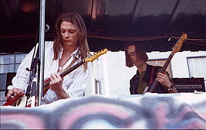 Deus (band) - Chris Whitley on guitar with  Alan Geveart of Deus in the late 1990s in New York City