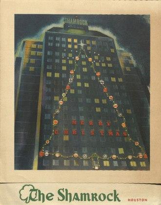 Shamrock Hotel - Image: Christmas Card 1950 The Shamrock Houston